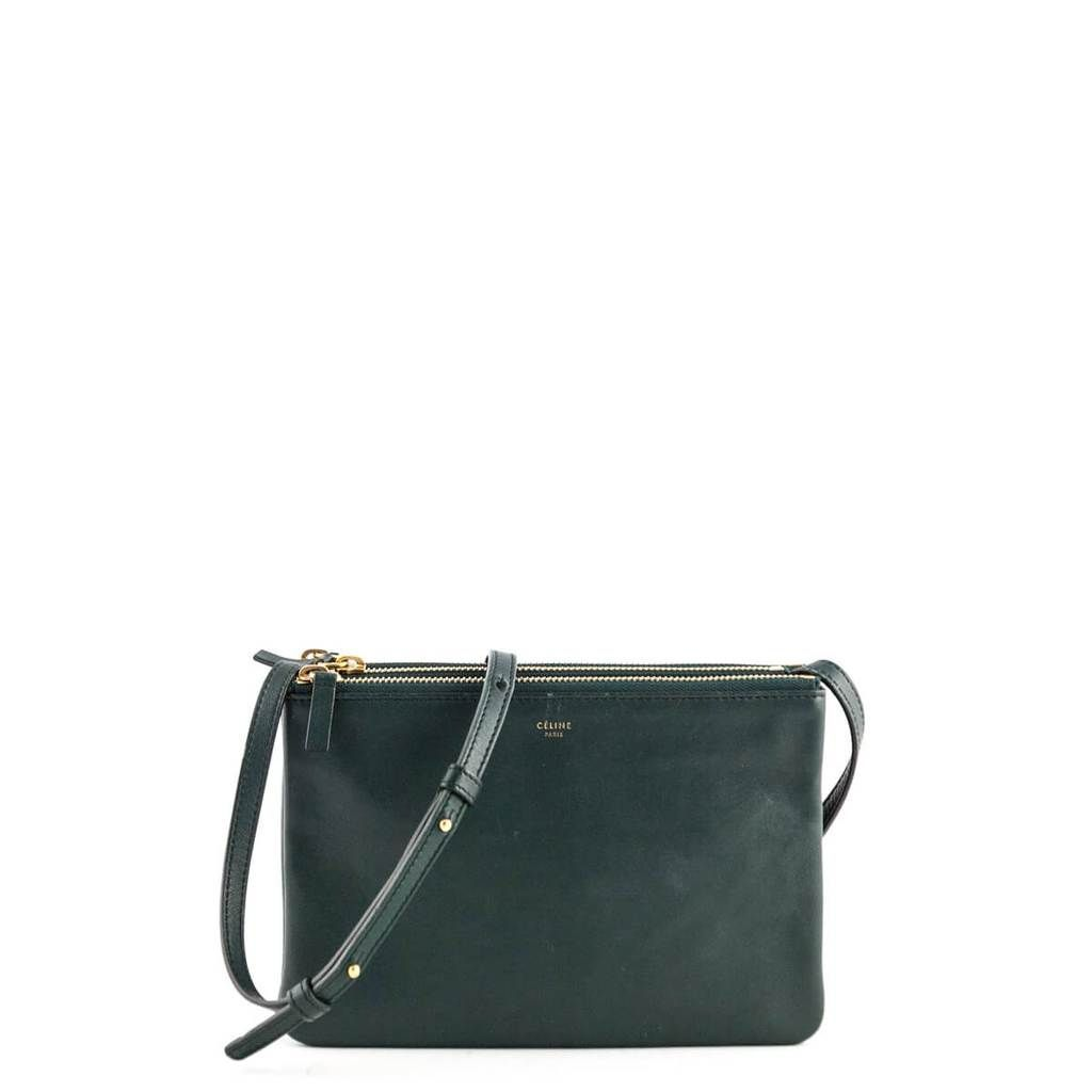 1e7f57bc2bd5 Celine Forest Green Lambskin Small Trio Crossbody - LOVE that BAG - Preowned  Authentic Designer Handbags -  895 CAD