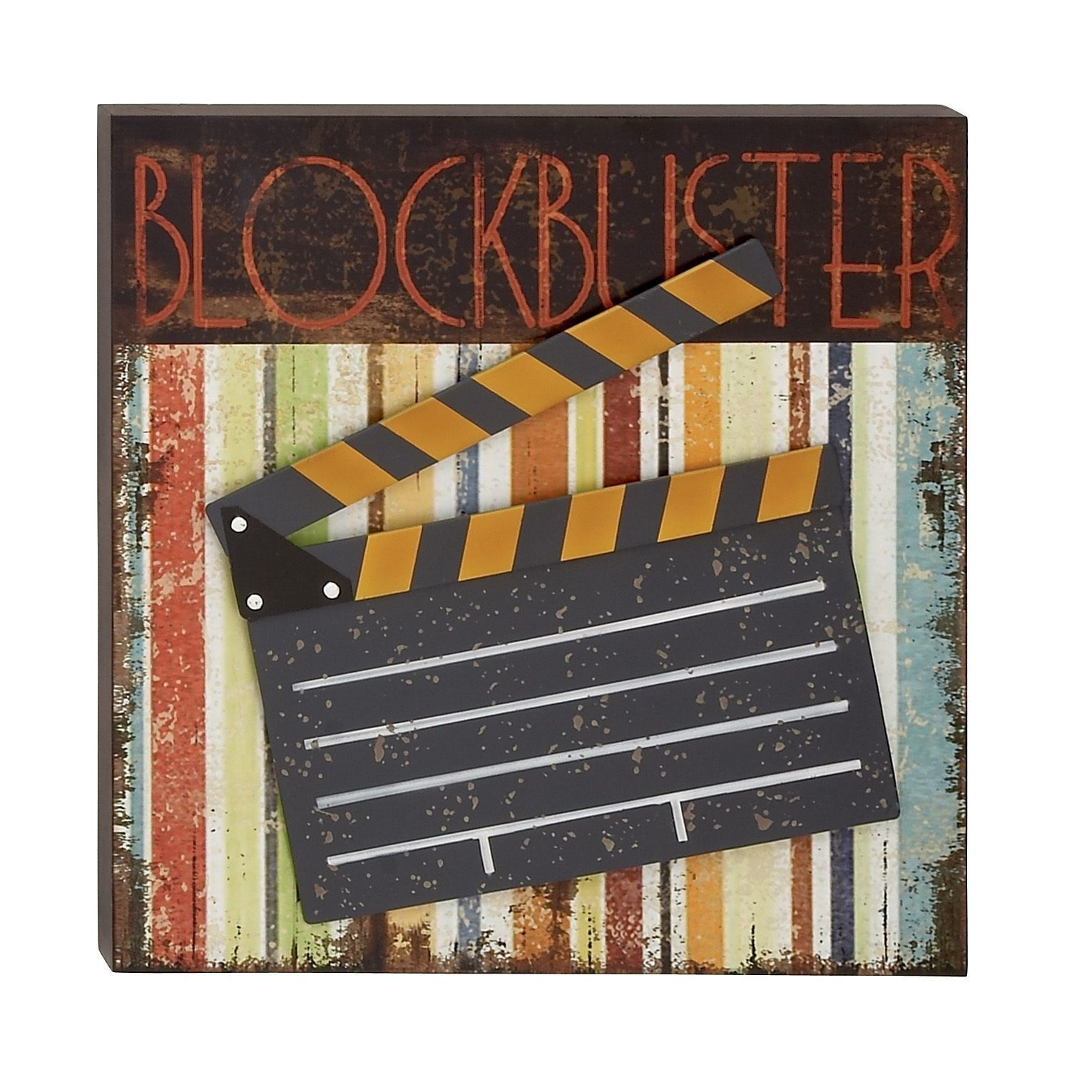 Theatre Movie Clapperboard Action Hollywood Film Wall Art Theater