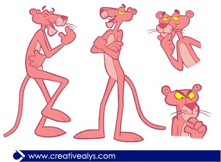 Pink Panther In Vector Png 432 318 Vector La Pantera Rosa Animacion