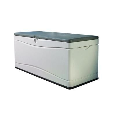 Lifetime 130 Gal Polyethylene Outdoor Deck Box 60012 Outdoor Storage Bin Deck Box Outdoor