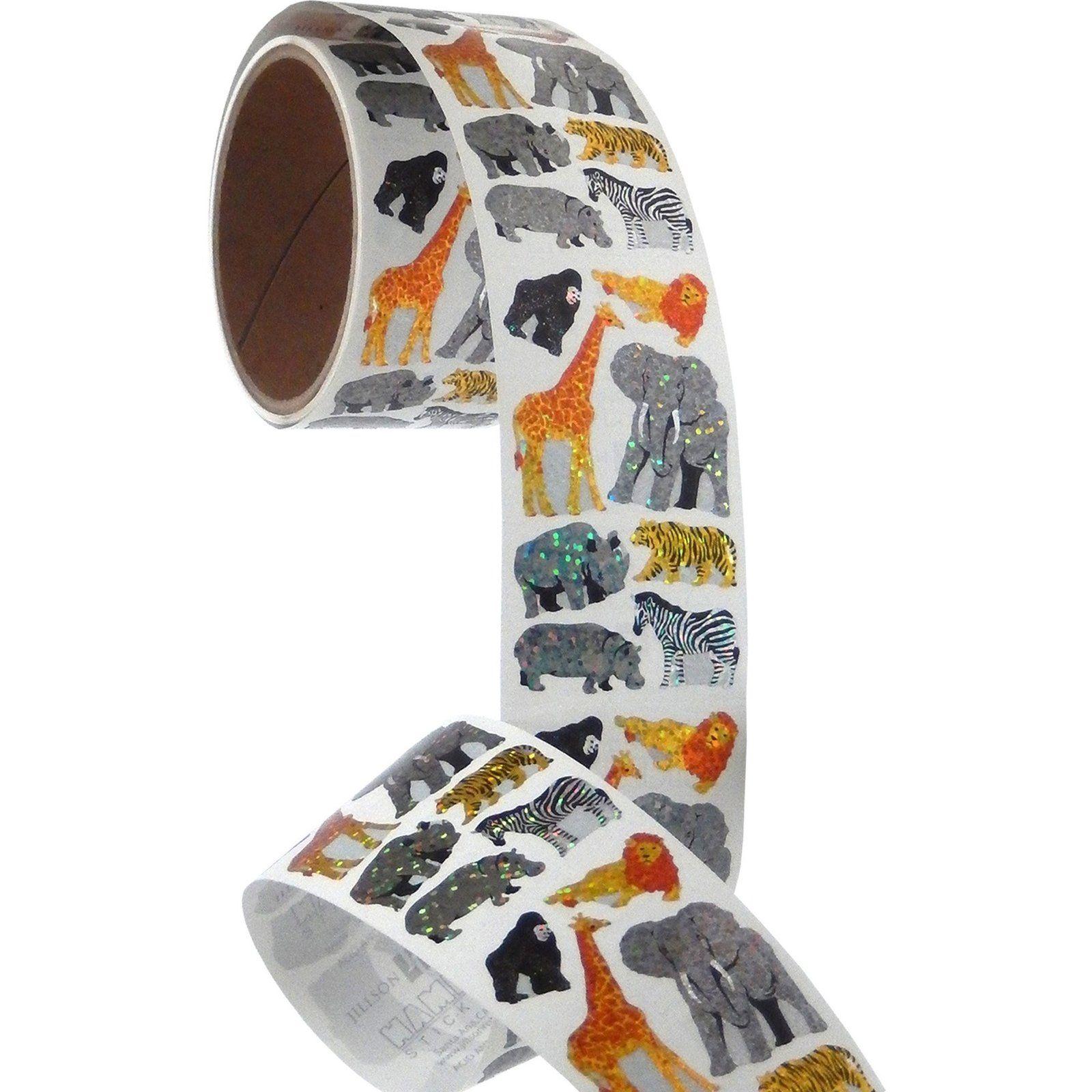 Bulk Roll Prismatic Stickers Happy Birthday Assortment 50 Repeats