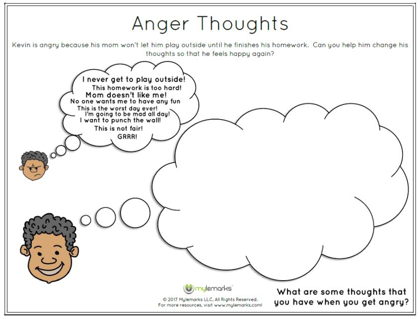 Anger, coping skills, anger management, children   anger workbook