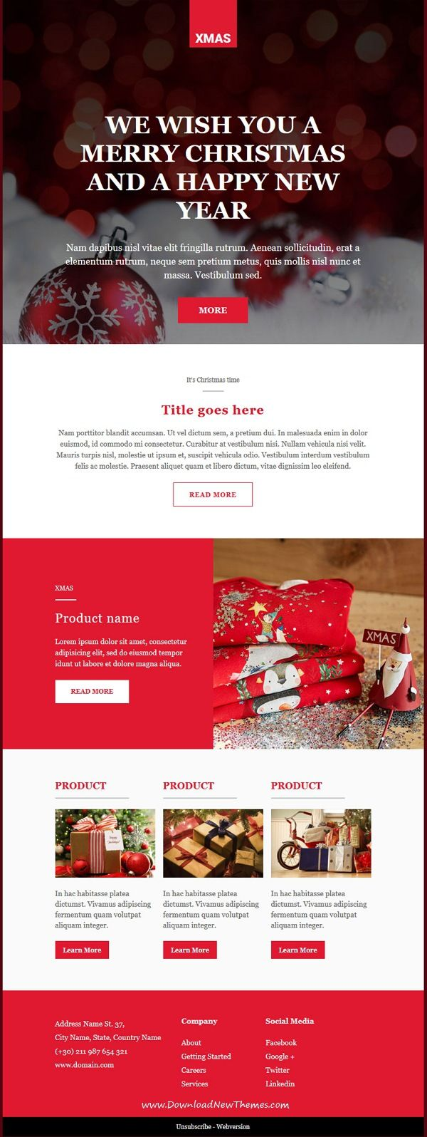 xmas is clean and modern design 8in1 responsive email newsletter