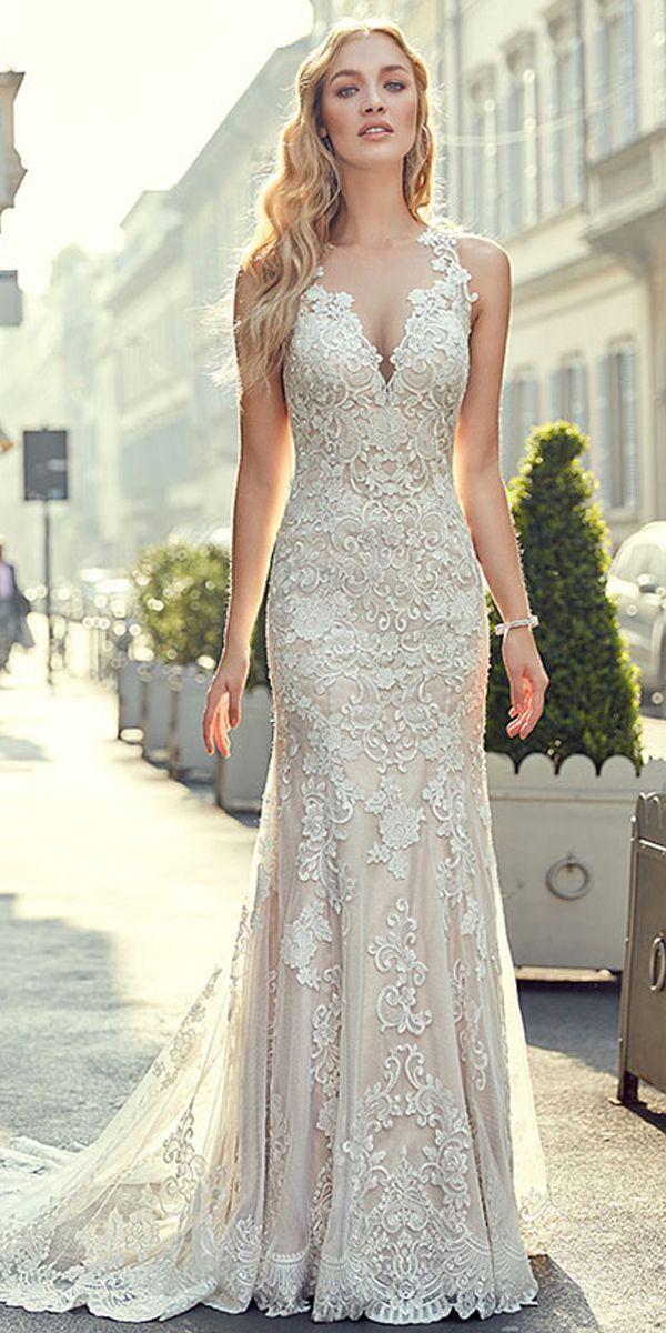 Romantic Tulle Jewel Neckline Natural Waistline Mermaid Wedding Dress With Lace …