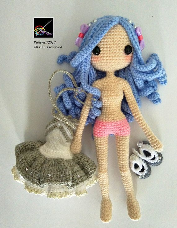 Crochet Doll Pattern - Kallie 凱莉 #instructionstodollpatterns