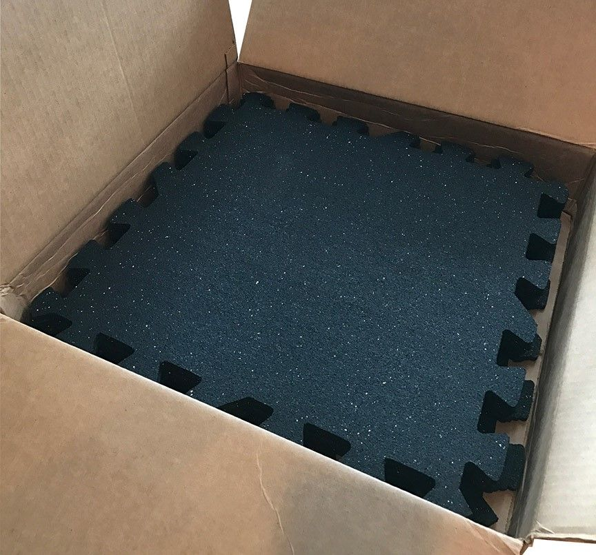 Iron lock garage gym rubber flooring kit includes tiles for