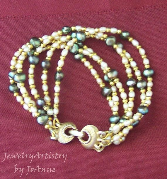 Pearl Bracelet  Amazing Handcrafted 6 Strand by by JewelryArtistry, $37.00