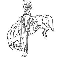 Printable The Jockey Horse Coloring Pages