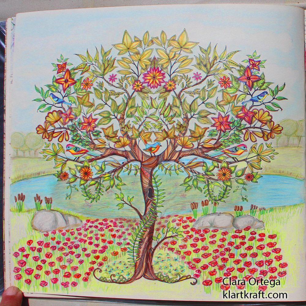 Secret Garden Johanna Basford Clara Ortega Arbol Jardines Secretos Jardín Secreto Libro De Colores