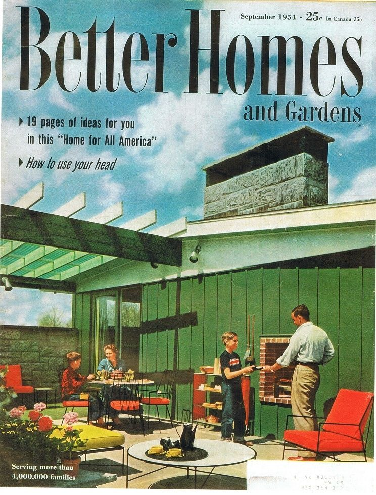 Better Homes And Garden Cover September 1954 Home Plans
