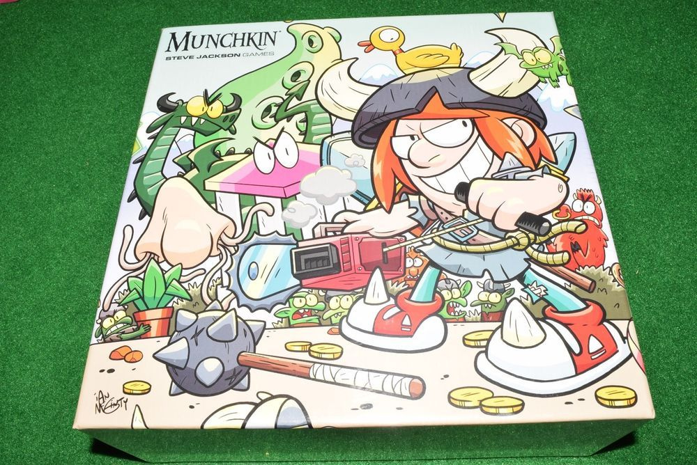 Munchkin monster box with 6 bookmarks and 10 promo cards