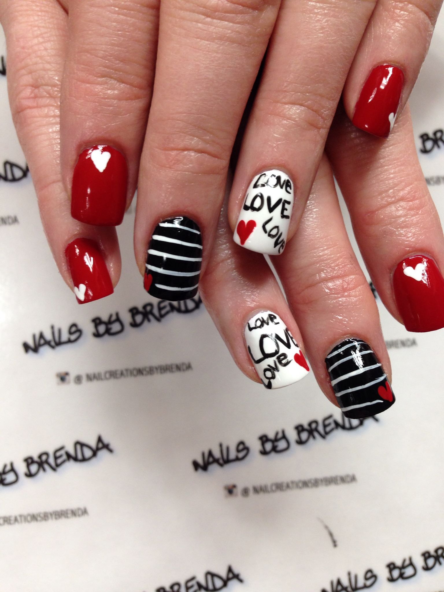 Pin by Nail Creations By Brenda on Valintine Nails | Pinterest ...