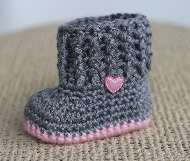 Crochet Baby Booties - Baby Girl Booties - Baby Snuggly Snuggs ...