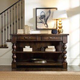 طاولة كونسول خشب بدرجين Traditional Console Tables Furniture Home Decor