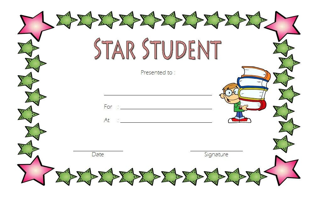 Free Star Student Certificate Template Version 4 Student Certificates Star Students Student Of The Month