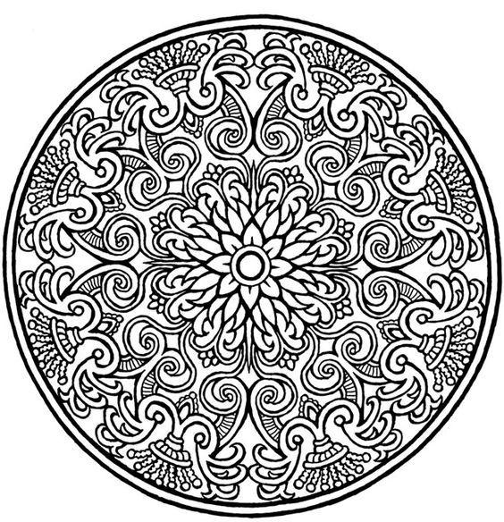 Las mejores imágenes de mandalas en blanco y negro para colorear ...
