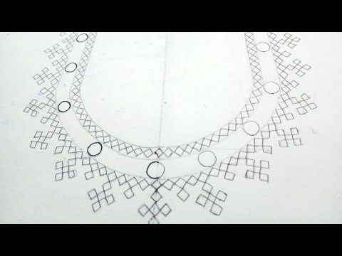 Part-2 How to draw a Blouse Neck line design with