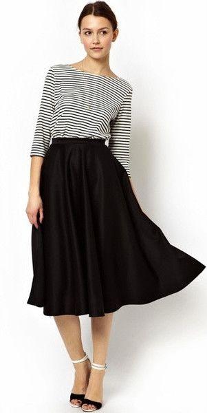 Modest full midi skirt with soft pleating | Mode-sty tznius fashion