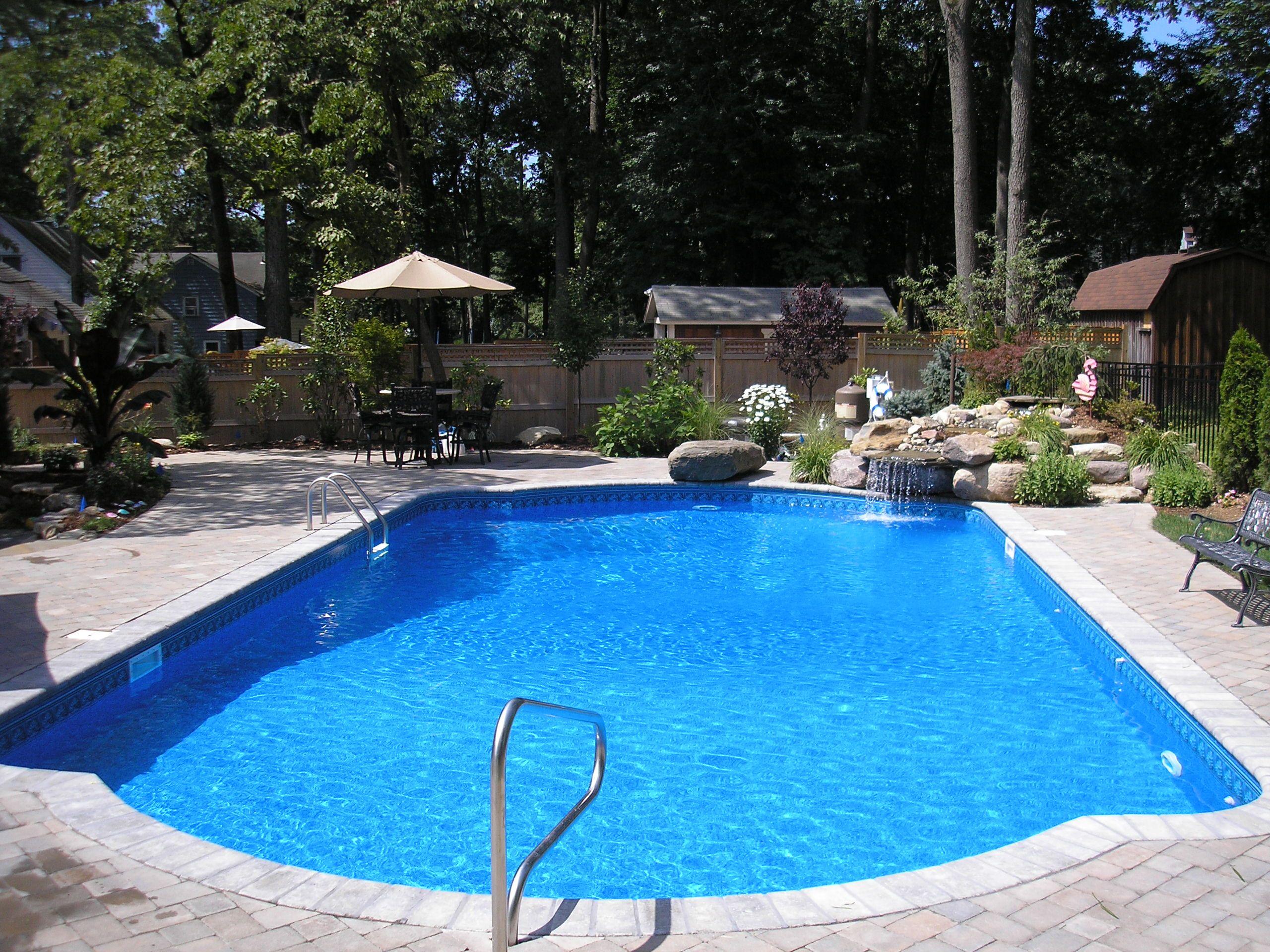 Mountain Lake Inground pool with vinyl liner Pools Pinterest