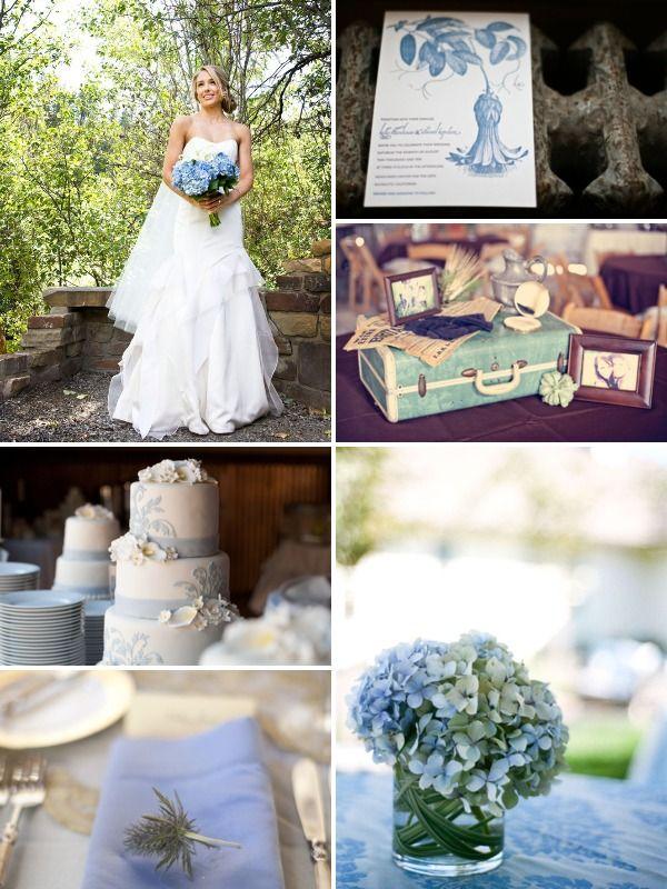 Image detail for -Vintage blue wedding inspiration board Vintage Wedding Ideas