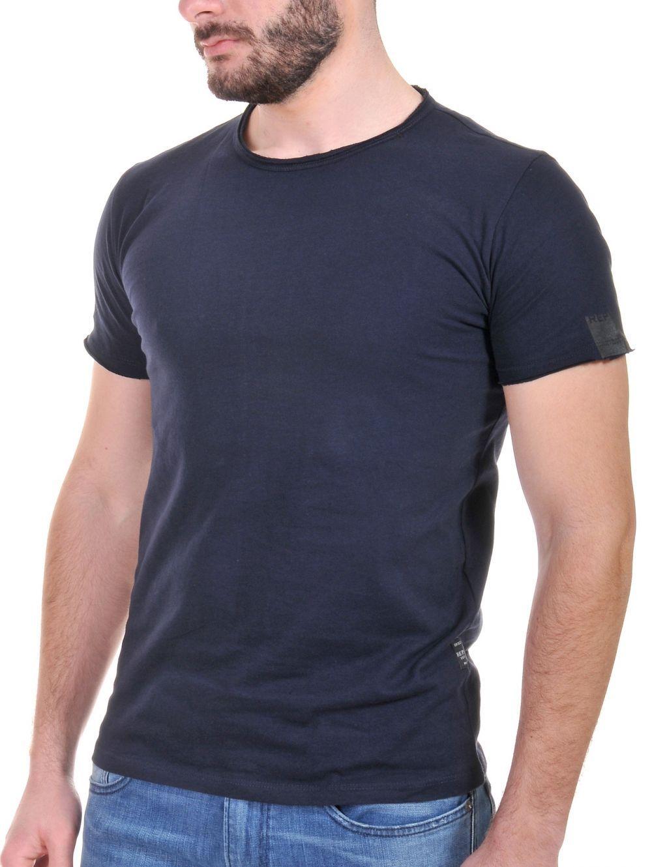 dea9bf9af80 REPLAY Ανδρικό μπλέ σκούρο κοντομάνικο T-Shirt, M3466.0002660.882 ...