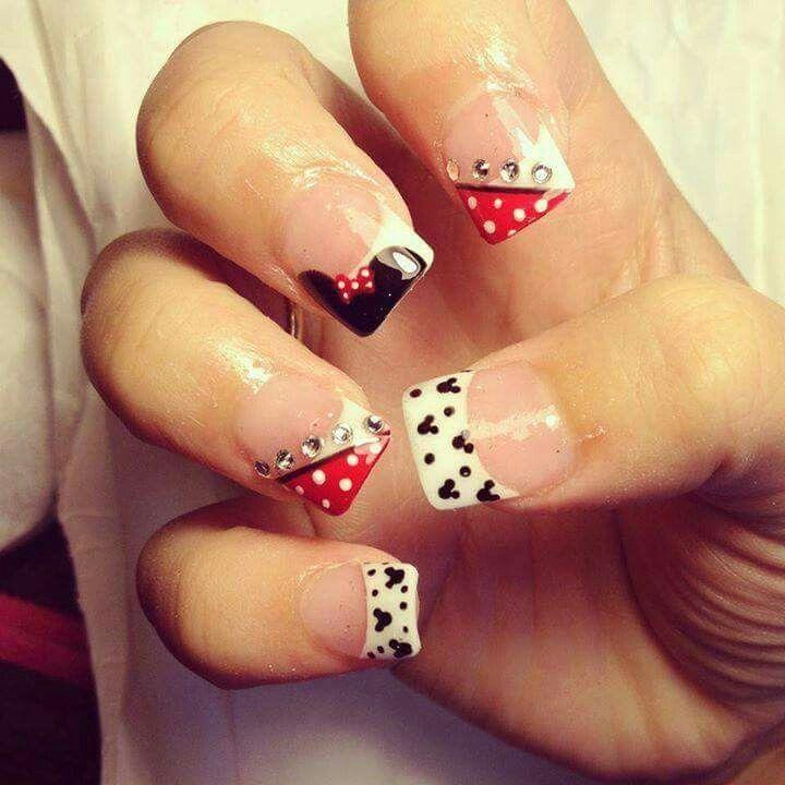 Micky mouse nail art• | uñas | Pinterest | Uñas mickey, Diseños de ...