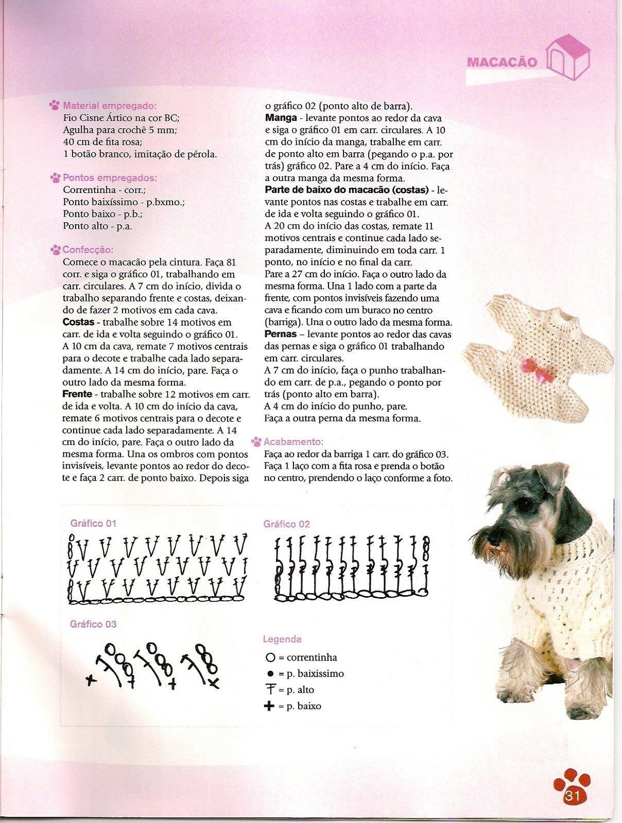 revistas de manualidades gratis   Ropa para perritos   Pinterest ...