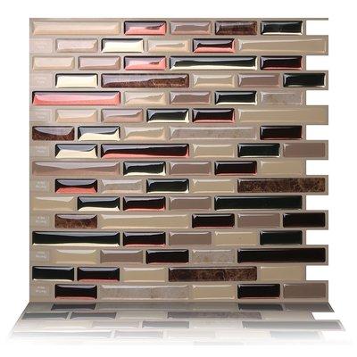 tictactiles como 9 5 x 10 peel stick mosaic tile in mare rh pinterest com