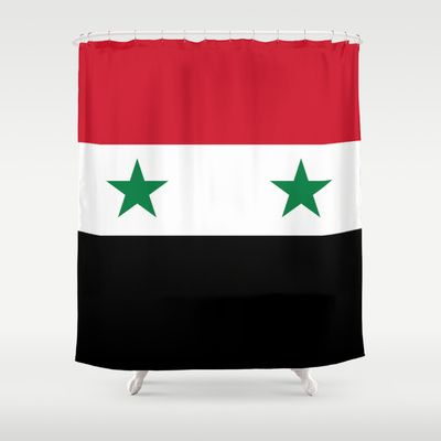 The Syrian national flag - (may PEACE prevail) Shower Curtain by LonestarDesigns2020 - Flags Designs + - $68.00