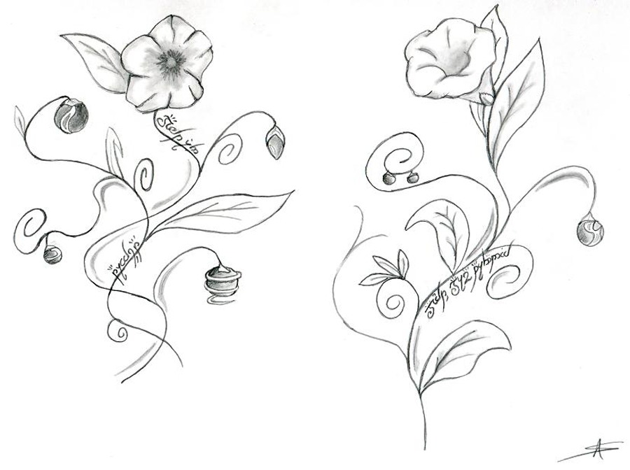 fleures dessin tatoo fleur tatouage image a reproduire. Black Bedroom Furniture Sets. Home Design Ideas