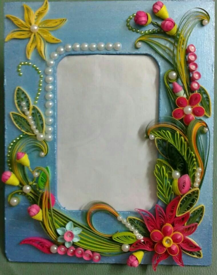 Decorated Frame with quilling | Quilling - Frames | Pinterest ...
