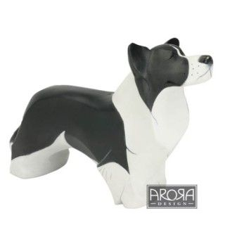 Border Collie Dog Ornament In Tin Money Box My Pedigree Pals