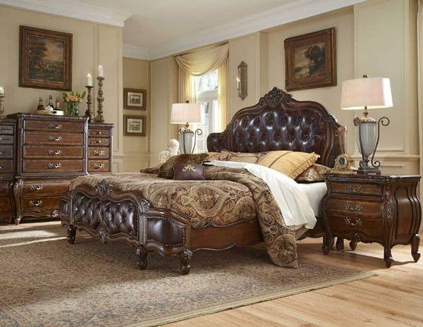 AICO Furniture - Lavelle Melange 6 Piece California King Wing ...