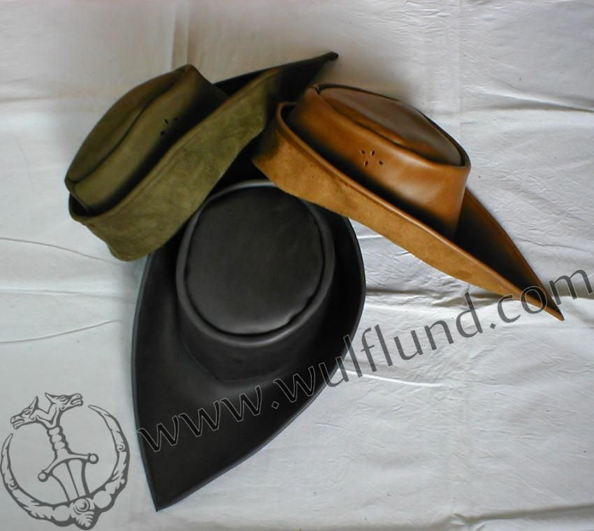 Medieval Leather Hat Leather Hats Leather Gloves Pattern Hats For Men