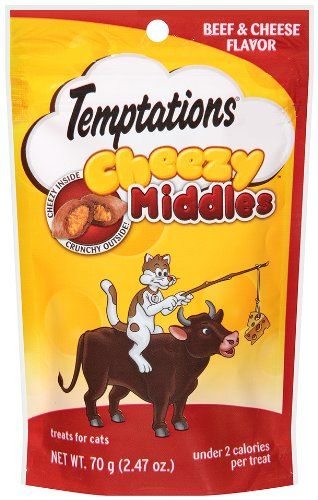 65% Off was $19.97, now is $6.99! Whiskas Temptations Cheezy Middles Treats for Cats, Beef/Cheese Flavor
