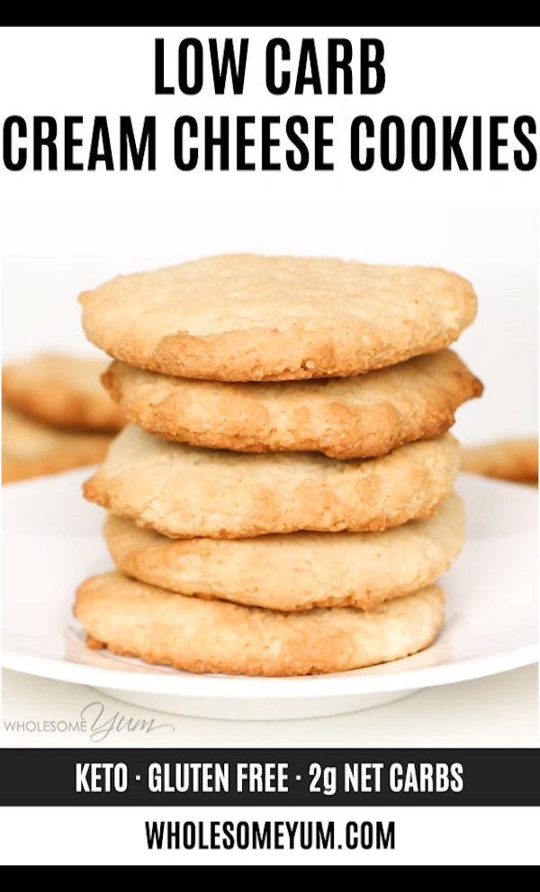 Low Carb Keto Cream Cheese Cookies Recipe - Quick & Easy