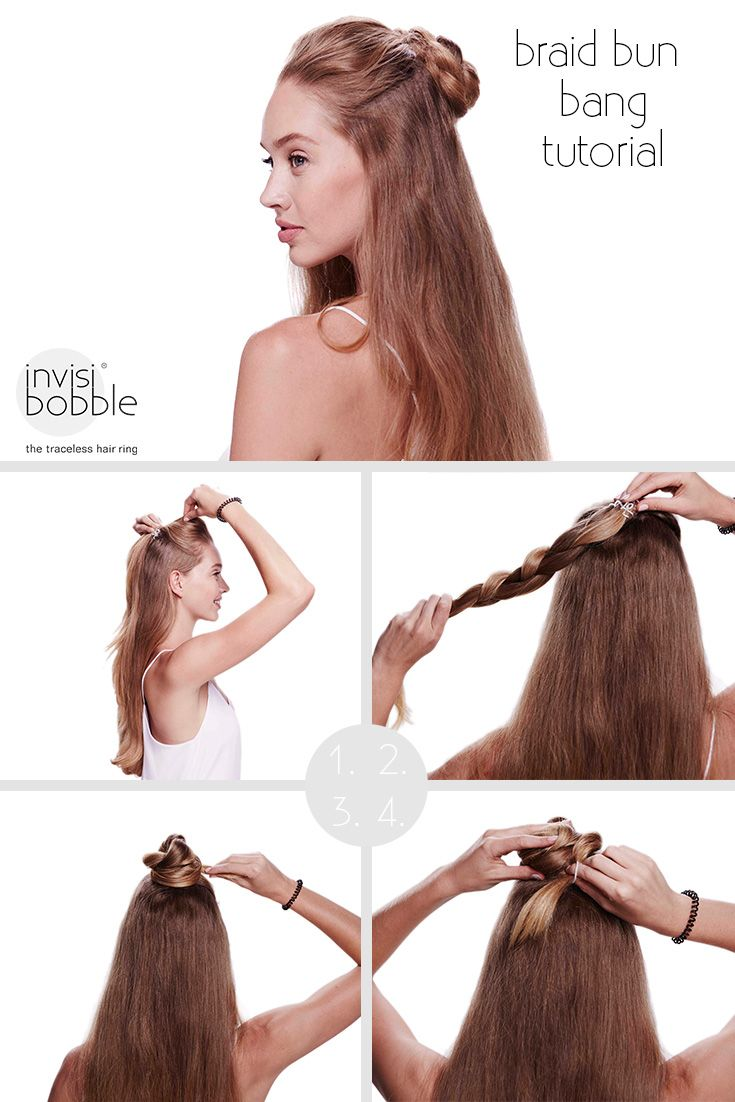 How about the invisibobble braid bun bang tutorial  The braided flower adds  the certain something to this half up half down hairdo! b2735ac5442