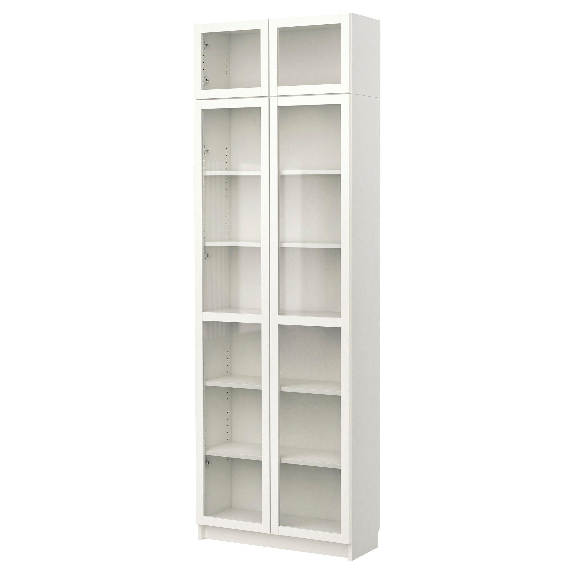 BILLY Boekenkast met vitrinedeur - wit - IKEA - wasplaats ...