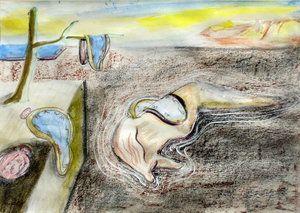 Interpretation of Dali painting The Persistence of Memory on Ebay