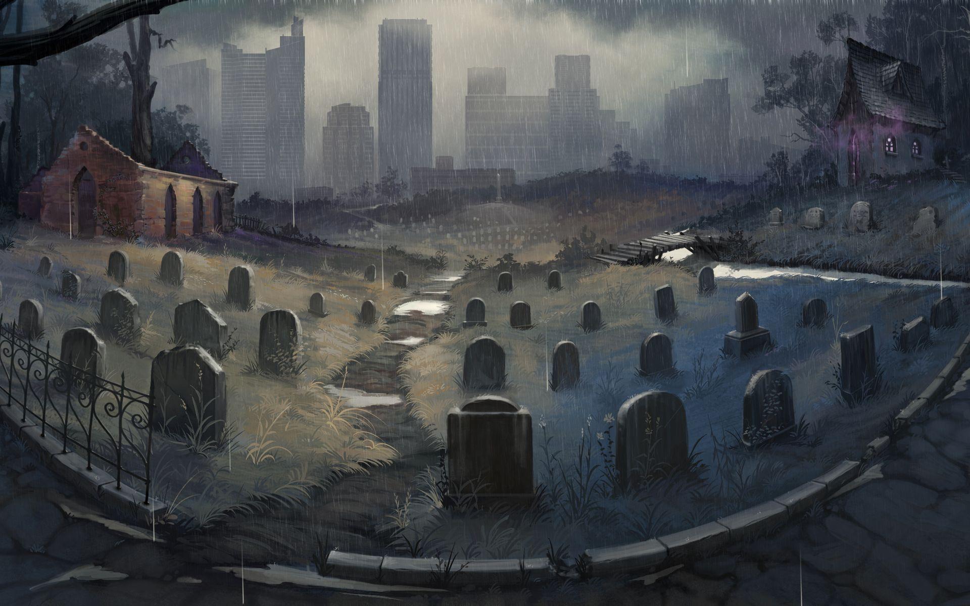 Graveyard Wallpaper By Der Reiko D75mjec 1920x1200