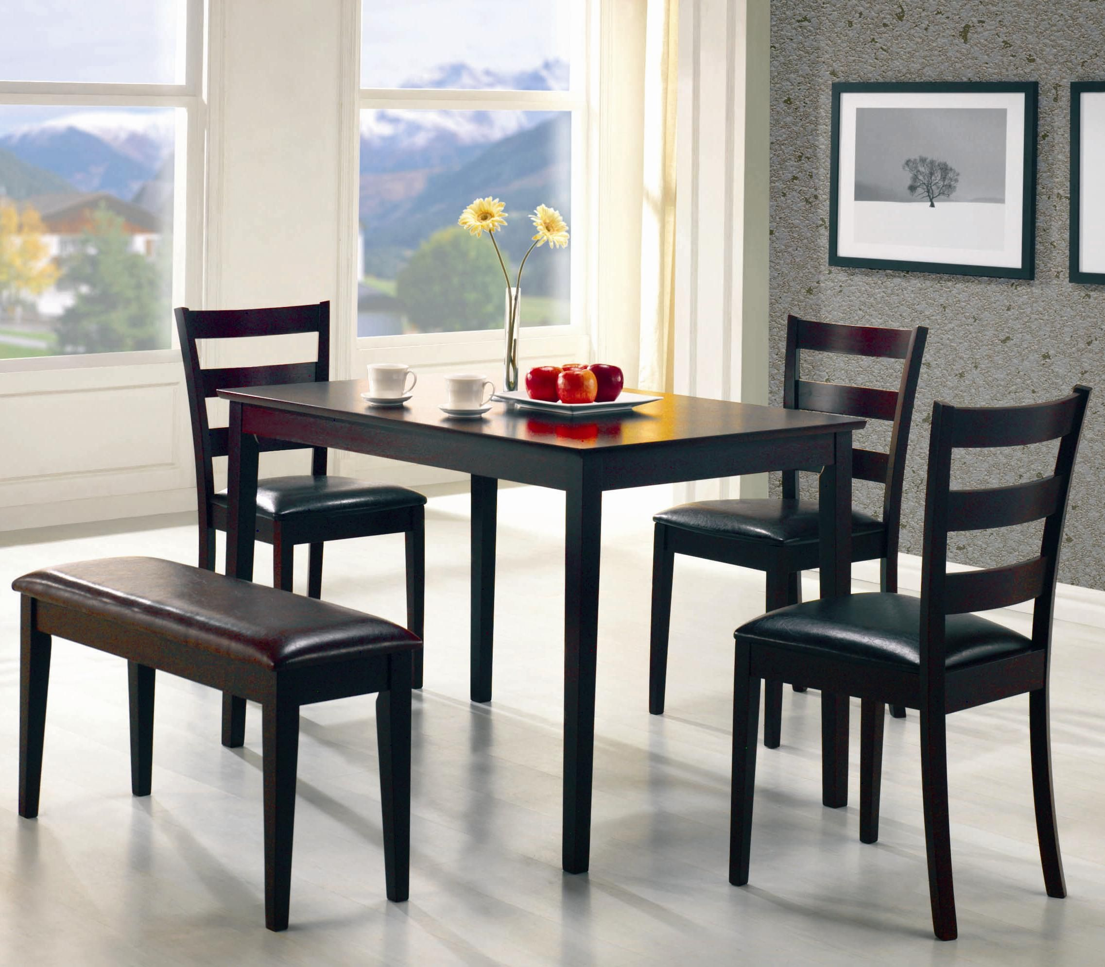 Coaster Taraval 5 Piece Dining Set With Bench Michael S