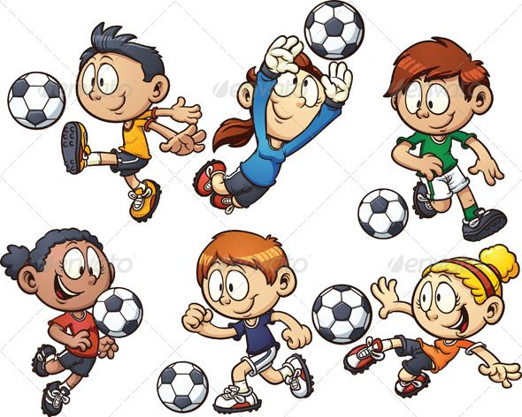 Soccer Kids Cartoon Kids Kids Vector Kids Stock