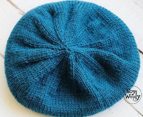 Patrón para tejer un gorro hipster-slouchy en dos agujas | Crochet