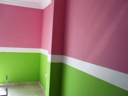 Girls Bedroom Paint Ideas Stripes lighter pink n lighter green definitely, but like the idea with