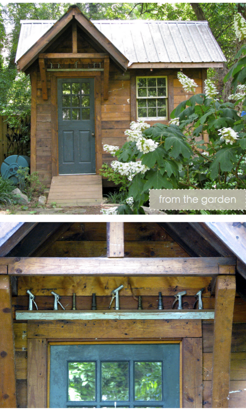 reclaimed wood garden shed with metal roof Garden shed