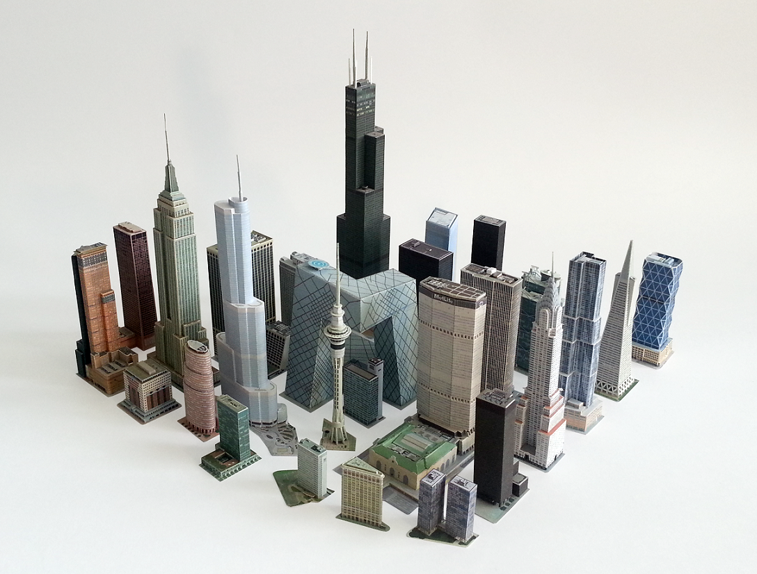 Tim's Paper Models - SkyscraperCity Following free model can