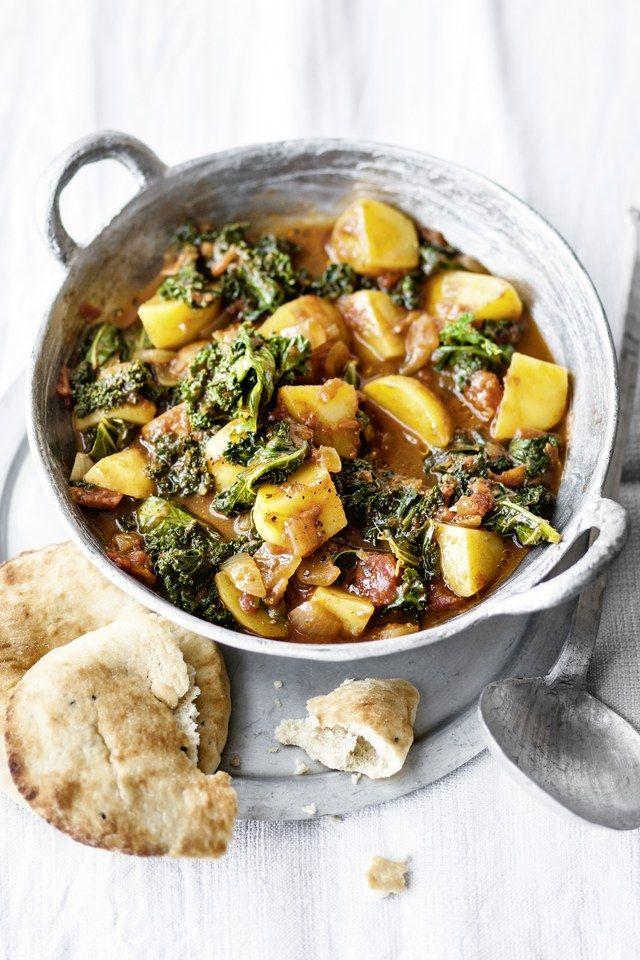 Schmackhaft: Kartoffel-Grünkohl-Curry #vegetariandish
