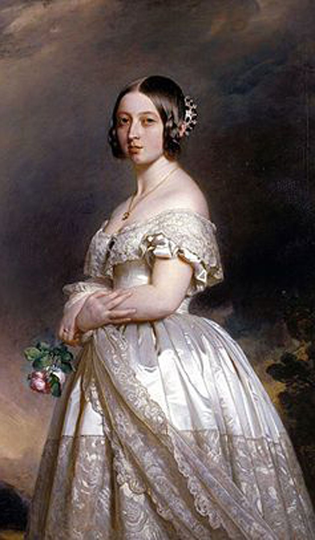 Queen Victoria In Her Wedding Dress By Winterhalter 1842 Queen Victoria Wedding Dress Victoria Wedding Dress Queen Victoria Wedding [ 1800 x 1050 Pixel ]