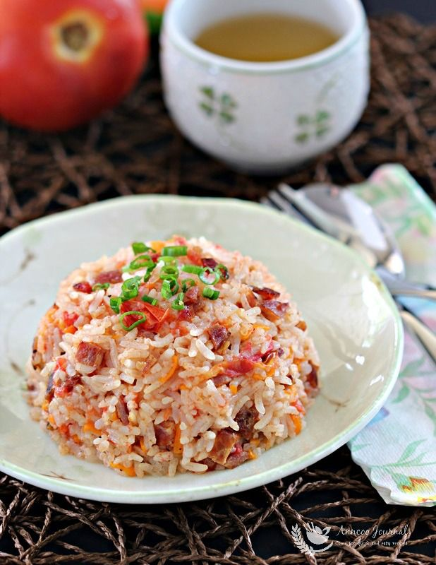 This bak kwa pork jerky tomato rice is very easy to cook and is an recipes forumfinder Gallery