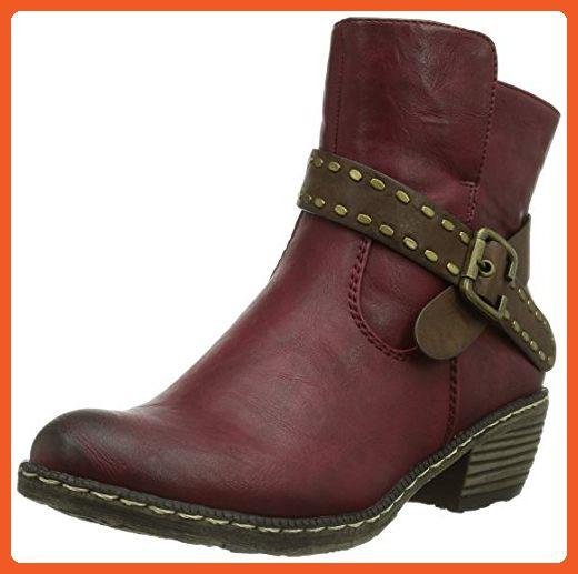28149294f33 Rieker Women's Red Kitten Heel Ankle Boot One Color Uk 5 - Eu 38 ...